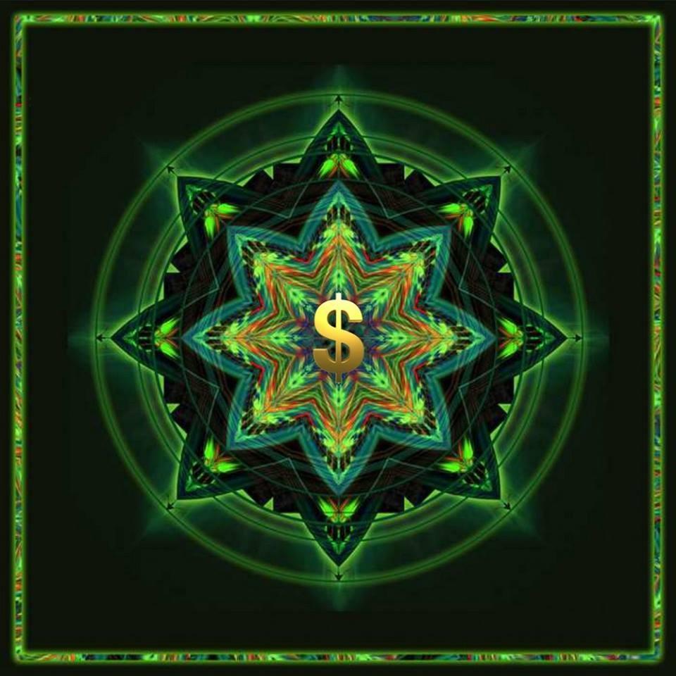 Мандала для привлечения денег и материального благополучия раскраска