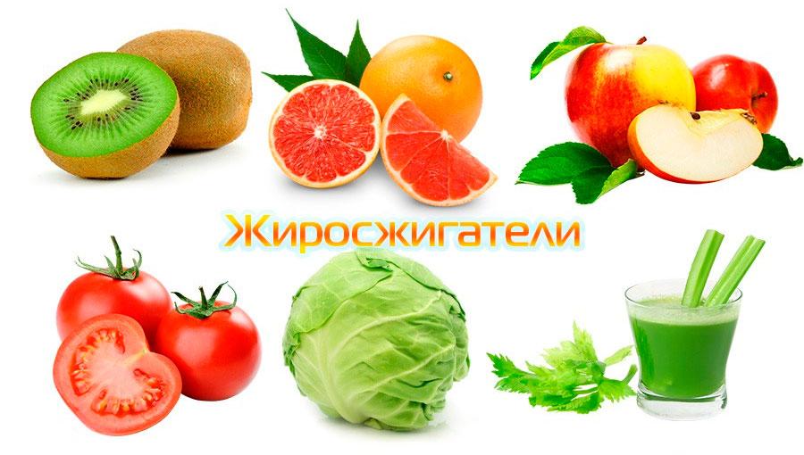 список овощей и фруктов для похудения